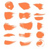 Abstract spots of orange paint 2 Stock Photos