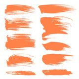 Abstract spots of orange paint Royalty Free Stock Photography