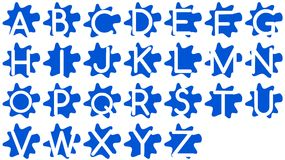 Abstract spotted alphabet Royalty Free Stock Photography