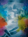 Abstract spray multicolor painting royalty free stock photos