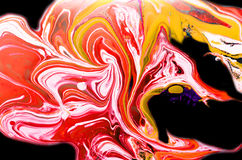 Abstract spread colors. Spread coloring interspersed blending creative Royalty Free Stock Images