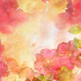 Abstract spring background with flowers Stock Image