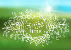 Abstract spring background frame Stock Images
