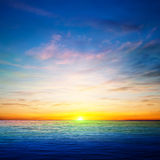 Abstract spring background with ocean sunrise Stock Photography