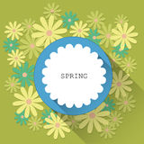 Abstract spring background with paper flowers Royalty Free Stock Photography