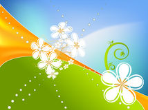 Abstract spring background vector with floral elem Stock Photos