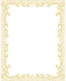 Abstract spring festive golden frame. Editable and scalable Stock Image