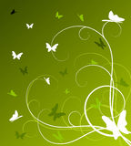 Abstract spring floral background. With butterflies (vector Vector Illustration