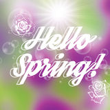 Abstract spring floral background Stock Photo