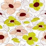 Abstract spring floral seamless pattern Royalty Free Stock Images