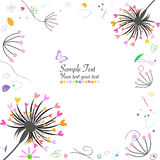 Abstract spring flower and dandelion greeting card Royalty Free Stock Photography