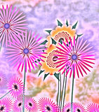 Abstract Spring Flowers Royalty Free Stock Images