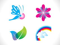 Abstract spring icon template. Vector illustration Royalty Free Stock Photos
