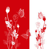 Abstract spring red rose butterfly Stock Photo
