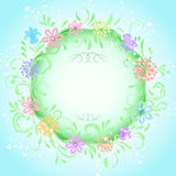 Abstract spring round frame Stock Image