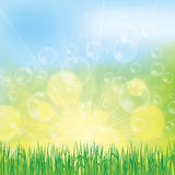 Abstract spring summer background. With bubble Royalty Free Stock Image