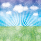 Abstract spring summer background. With clouds Stock Images