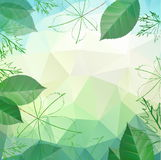 Abstract spring and summer background with leaves Royalty Free Stock Photo