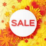 Abstract Spring Summer Sale colorful banner for business. Stock Image