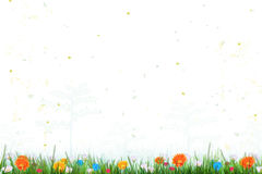 Abstract spring time background with flowers, nature summer floral wallpaper Stock Photos