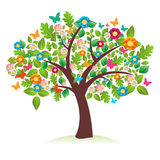 Abstract spring time tree Royalty Free Stock Images