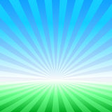Abstract spring vector landscape Stock Image