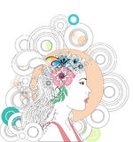Abstract spring woman. An abstract illustration of a spring woman Royalty Free Stock Photos