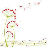 Abstract springtime love flower. Greeting card Stock Images