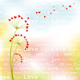 Abstract springtime love flower Stock Images