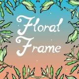 Abstract sprookje bloemenkader Naadloze patroonachtergrond Stock Afbeelding