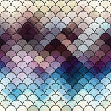 Abstract squama pattern with chevron shadow Stock Photo