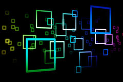 Abstract square 0001. The square colour on the dark background, abstract background Vector Illustration