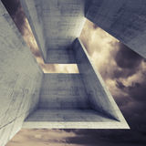 Abstract square architecture background, 3d Stock Images
