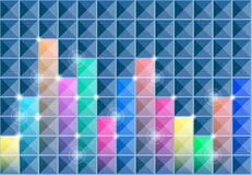 Abstract square background Stock Photos