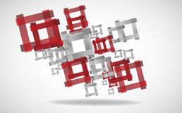 Abstract square background. Clip-art Royalty Free Stock Photo