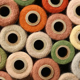 Abstract Square Background Collection of Antique Thread Spools Royalty Free Stock Photos
