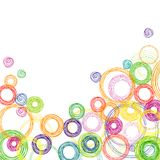 Abstract square background with colored circles Stock Photo