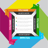 Abstract square background with four positions Royalty Free Stock Photos