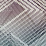 Abstract square background, 3d art. Abstract square background, geometric pattern with intersected stripes. 3d illustration Royalty Free Stock Photography