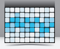 Abstract square background pattern Royalty Free Stock Photos