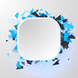 Abstract square Banner. Advertisement panel  Royalty Free Stock Images