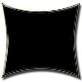Abstract square black banner Stock Images
