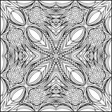Abstract Square Black And White Ornament In Zentangle Style Stock Images