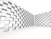 Abstract Square Blocks Wall Design Background. 3d Render Illustration Vector Illustration