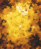 Abstract square brushes in golden spectrum Stock Image