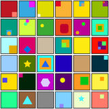 Abstract square color background. Abstract color background with many geometric objects Royalty Free Illustration