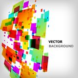 The abstract square colorful background Stock Photography