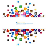 Abstract square colorful background Stock Image