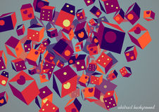 Abstract square composition. Vector square banner. Bright colors stock illustration