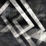 Abstract square concrete 3 d background. Abstract square concrete background with dark chaotic cubic structures, 3d illustration, multi exposure effect Royalty Free Stock Photo